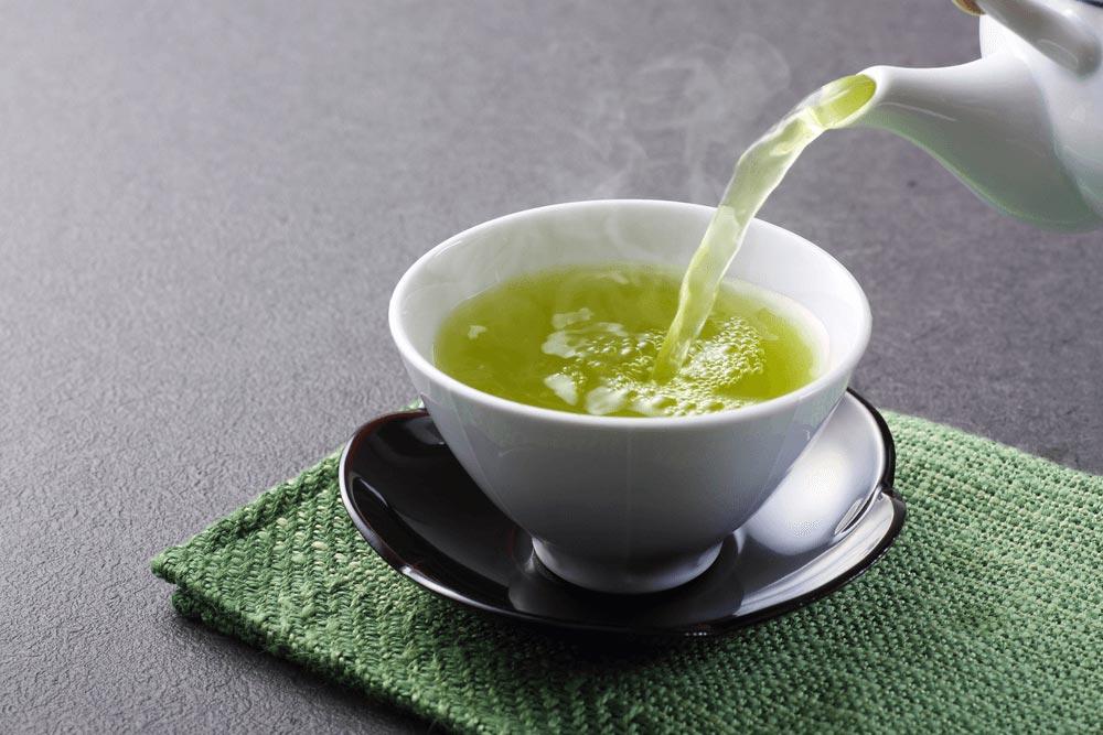 zöld tea felállítása